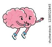 cute brain cartoon | Shutterstock .eps vector #1238522845