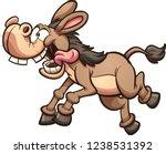 Crazy Running Cartoon Mule Or...