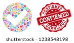 trading collage of confirmed... | Shutterstock .eps vector #1238548198