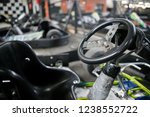 karts ready to race. kart on... | Shutterstock . vector #1238552722