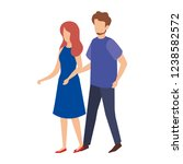 couple avatar characters icons | Shutterstock .eps vector #1238582572