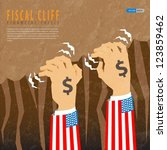 fiscal cliff financial crisis | Shutterstock .eps vector #123859462