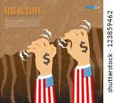 fiscal cliff financial crisis | Shutterstock .eps vector #123859462
