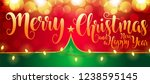 2019 new year christmas 3d... | Shutterstock .eps vector #1238595145