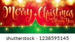 2019 new year christmas 3d... | Shutterstock .eps vector #1238595145