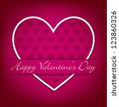 sticker heart valentine's day... | Shutterstock .eps vector #123860326