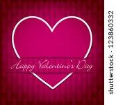sticker heart valentine's day... | Shutterstock .eps vector #123860332