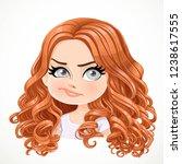 beautiful doubt smiling cartoon ... | Shutterstock .eps vector #1238617555