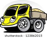 cartoon truck   Shutterstock .eps vector #123862015