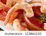 fresh organic shrimp cocktail... | Shutterstock . vector #123862132