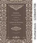 wedding invitation cards ... | Shutterstock .eps vector #1238644708