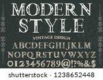 vintage handcrafted font... | Shutterstock .eps vector #1238652448