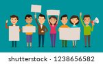 group of people or crowd cheers ... | Shutterstock .eps vector #1238656582