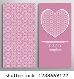 set of decorative cards with...   Shutterstock .eps vector #1238669122