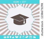 master cap for graduates ...   Shutterstock .eps vector #1238673298