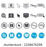 www web icon set. 4 versions   | Shutterstock .eps vector #1238676358