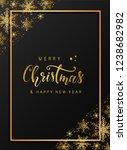 vintage merry christmas...   Shutterstock .eps vector #1238682982