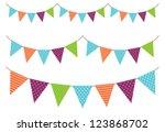 vintage garland | Shutterstock .eps vector #123868702