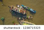 aerial  top down  floating...   Shutterstock . vector #1238715325