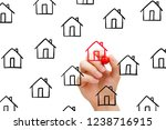 finding new house to buy... | Shutterstock . vector #1238716915