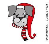 dog merry christmas card   Shutterstock .eps vector #1238717425