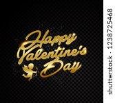 valentine day title text golden ... | Shutterstock .eps vector #1238725468