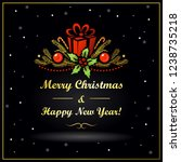 christmas and new year card... | Shutterstock .eps vector #1238735218