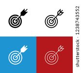 target icon set | Shutterstock .eps vector #1238743552