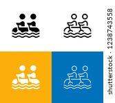 rafting icon set | Shutterstock .eps vector #1238743558