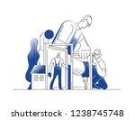door installer. door instaling... | Shutterstock .eps vector #1238745748