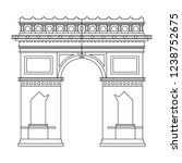 arch of triumph in black and... | Shutterstock .eps vector #1238752675