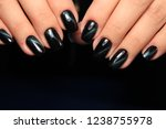 fashionable black manicure | Shutterstock . vector #1238755978
