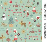 christmas background  seamless... | Shutterstock . vector #1238764402