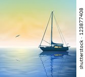 A Sailing Boat With Misty...