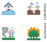 natural disasters. set icon eps ... | Shutterstock .eps vector #1238780452
