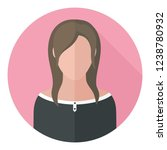 vector icon woman brunette.... | Shutterstock .eps vector #1238780932