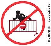 do not climb steel traffic...   Shutterstock .eps vector #1238821858