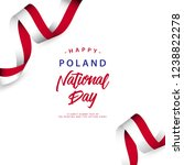 happy poland national day... | Shutterstock .eps vector #1238822278