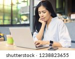 asian women working with... | Shutterstock . vector #1238823655