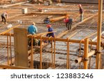 Workers Working With Concrete...