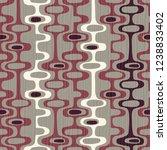 seamless abstract mid century... | Shutterstock .eps vector #1238833402