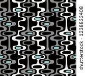 seamless abstract mid century... | Shutterstock .eps vector #1238833408
