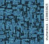 seamless abstract mid century... | Shutterstock .eps vector #1238833825