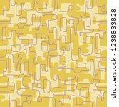 seamless abstract mid century... | Shutterstock .eps vector #1238833828