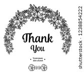 thank you lettering design with ... | Shutterstock .eps vector #1238854222