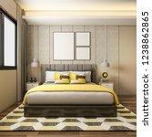 3d rendering beautiful luxury...   Shutterstock . vector #1238862865