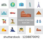 tourist attraction icons set.... | Shutterstock .eps vector #1238870092
