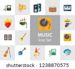 music icon set. trumpet player... | Shutterstock .eps vector #1238870575