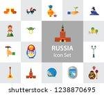 russia icon set. kremlin saint...   Shutterstock .eps vector #1238870695