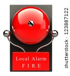 Red Fire Alarm Bell. High...